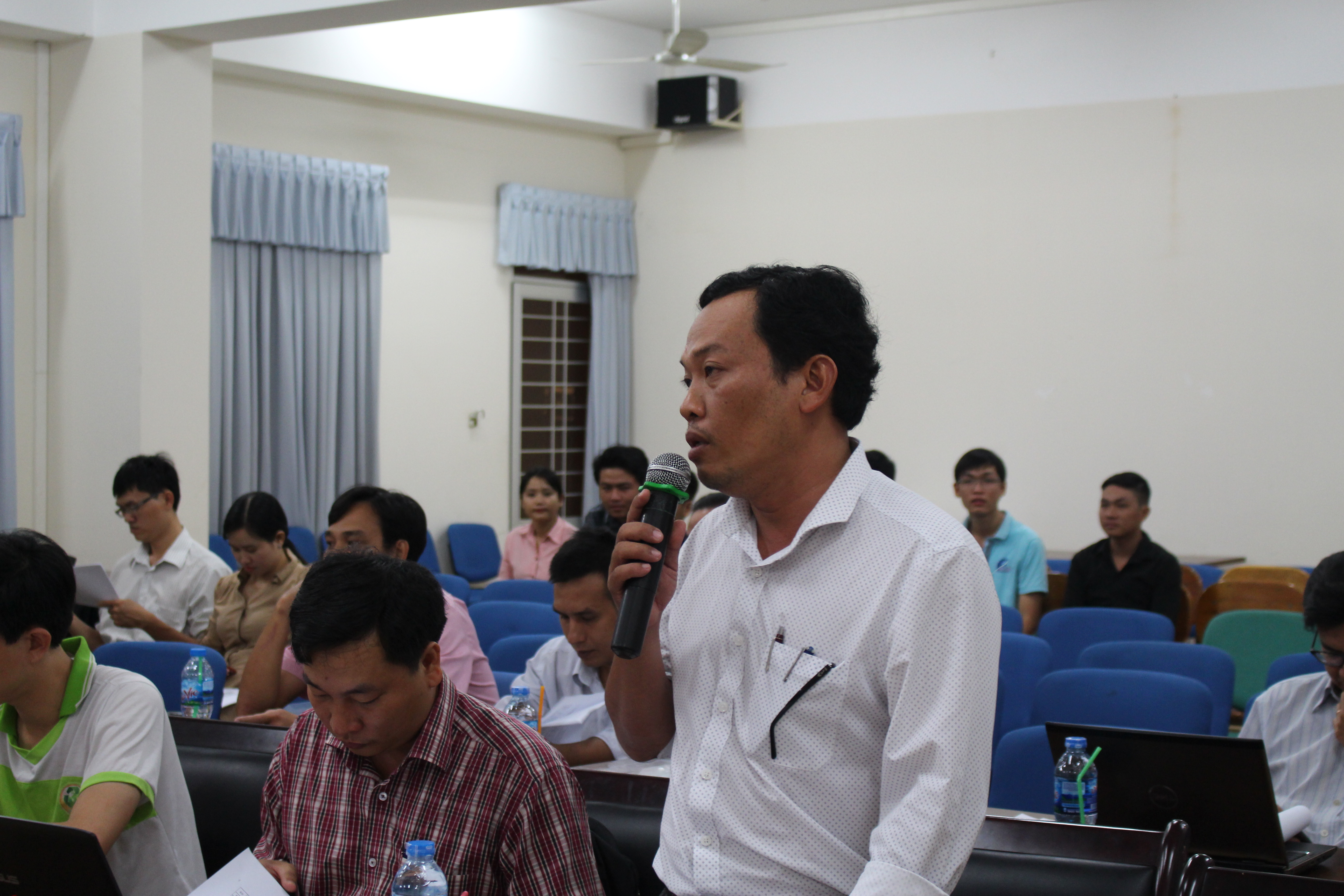 Mr. Huynh Thanh Sang – Dean of the Faculty of Information Techology, An Giang Vocational College provided feedback on the program