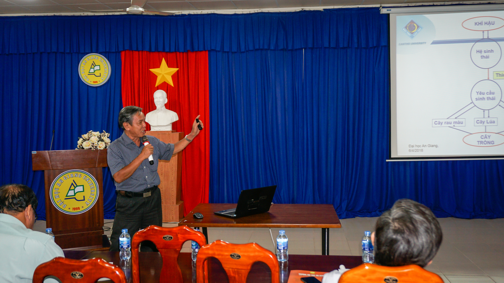 The presentation of Assoc. Prof. Dr. Nguyen Ngoc De – Vice Dean of the Faculty of Rural Development, Can Tho University